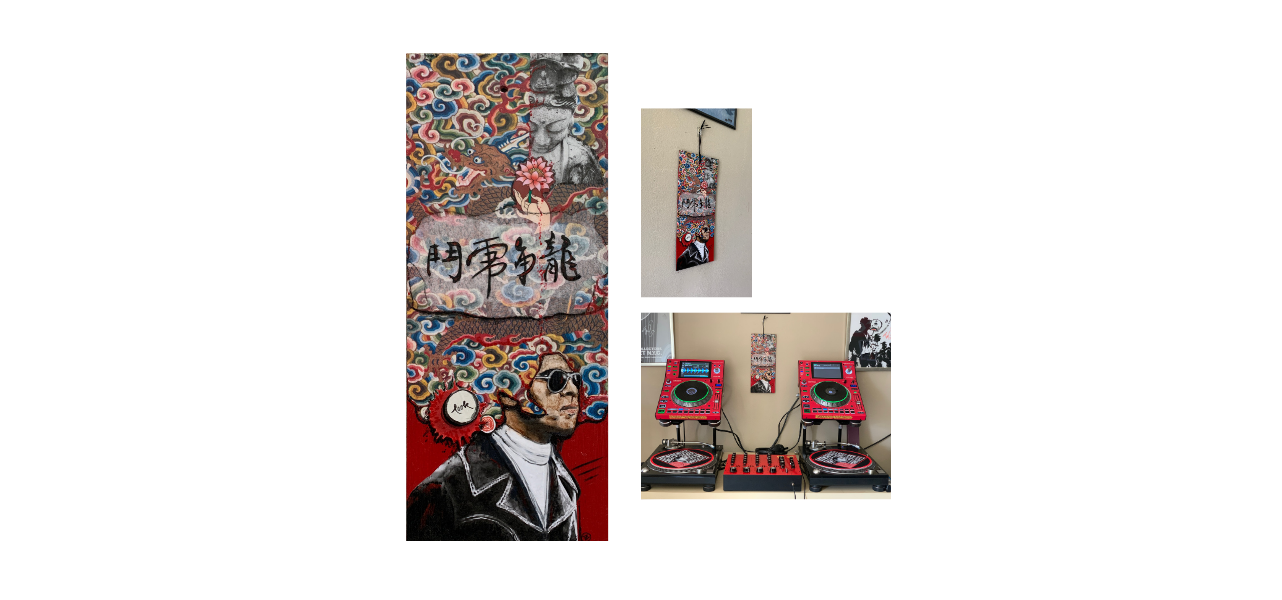 Jim Kelly pop art mixed media